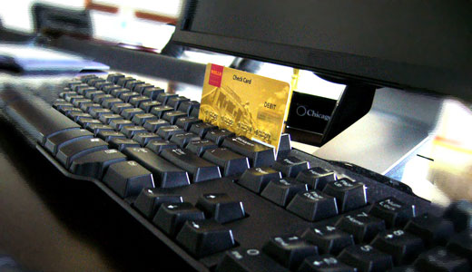 клавиатура с платиковой карточкой