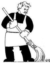 Человек чистит